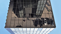 Upside Down Reflection (cokbilmis-foto) Tags: reflection mirror hyatt regency hotel building highrise reflecting architecture facade cars people blue sky medienhafen mediaharbor media harbor harbour dsseldorf duesseldorf dusseldorf nrw germany nikon d3300 nikkor 18105mm