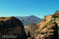 Meteora, Thessaly, Greece (Demetrios Georgalas aka brexians) Tags: meteora greece travel rocks rock thessaly kalabaka europe sky blue landscape picmonkey photo photography unesco religous historic tourism green monasteries