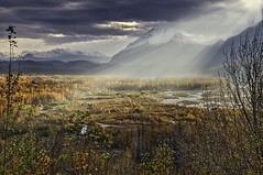 Glenn Highway Sunrise (grbenson3) Tags: palmer alaska unitedstates us glennhighway sunrise mist matanuska river valley autofocus