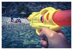 Videogame (s1nano) Tags: crete plakaelounda beach sea thalassa firstpersonshooter gun toygun watergun colours kodakplaysportvideocamerazx5