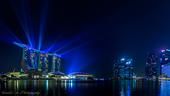 MBS Light Show (Gerald Ow) Tags: geraldow marina bay sands mbs canon eos 5dmkii ef1740mm f4l light show blue laser 1740mm cbd 5dmk2 ngc