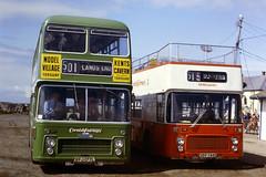 Lands End, August 1982 (Tony's Trains and Buses) Tags: cornishfairways bristol vrt ecw landsend