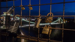 Locked in another city (Charlie.Wales) Tags: marrige charliewales colour couple church bristol dof interesting explore exposure e earth explored detail depth perspective ee cliftonsuspensionbridge