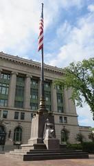 Saint Louis County Courthouse Flagpole (Duluth, Minnesota) (courthouselover) Tags: minnesota mn courthouseextras saintlouiscounty stlouiscounty duluth danielburnham flags northamerica unitedstates us