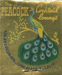 The Peacock (jericl cat) Tags: matches matchbook match illustration vintage losangeles paper ephemera restaurant dining cocktail the peacock