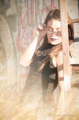 Ashley Pt.17 (tmors) Tags: portrait woman lifestyle editorial desert fashion dress grafiti bridge lines beauty beautiful urban sexy