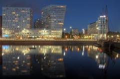 0211 (ElitePhotobox2) Tags: liverpool dock docks glass blocks hilton luminance hdr krita night