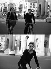 [La Mia Citt][Pedala] V (Urca) Tags: milano italia 2016 bicicletta pedalare ciclista ritrattostradale portrait dittico nikondigitale mir bike bicycle biancoenero blackandwhite bn bw