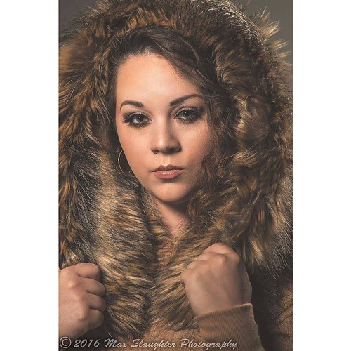 Fuzzy hood and earth tone colors pretty Racquel is ready for fall!