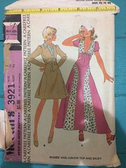 McCall's 3921 (kittee) Tags: colorpiecing mccalls3921 3921 mccalls skirt top bolero collar aline puffedsleeves size12 bust34 waist2612 1973 1970s kittee