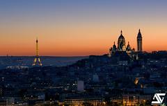 Beautiful sunset (A.G. Photographe) Tags: anto antoxiii xiii ag agphotographe paris parisian parisien france french franais europe capitale d810 nikon nikkor 70200vrii toureiffel eiffeltower sacrcoeur montmartre sunset grandpalais