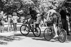 Maana de domingo (cmarga28) Tags: bicicletas familia paseo parque domingo descanso deporte ocio libertad entretenimiento parquedelretiro madrid espaa spain tranquilidad monochrome perspective photography young family nikon digital raw d750