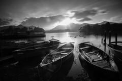 Keswick boats _B&W (ReevesWild) Tags: keswick boat boats lake derwent derwentwater sunset lakedistrict lakedistrictnationalpark longexposure leefilters bigstopper