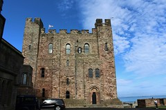 The Keep at Bamburgh Castle. (Eddie Crutchley) Tags: europe england northumberland bamburgh bamburghcastle fortress outdoor sunlight blueskies castle historicbuilding keep tower