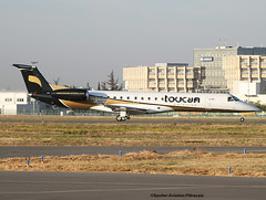 Toucan Aviation. Company For Senegal. (Jacques PANAS) Tags: toucan aviation embraer erj145ep fhafs msn145177