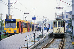 Once upon a time - The Netherlands - The interurban affair (railasia) Tags: holland provinceutrecht nieuwegein sun ema htm motorcar heritage specialrun articulatedmotorcar sig deliverydesign infra tramstop terminus eighties