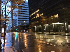 Another Rainy Day (zenseas : )) Tags: rain rainy windy storm autumn fall early morning earlysunday busstop thirdavenue 3rdavenue wet iphone iphone7plus downtown afterwork seattle washington urban seneca cbd