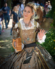 Queen's Lady (Ron Scubadiver's Wild Life) Tags: girl woman renfest nikon texas renaissance festival costume cosplay outdoors 24120