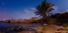 In the Twilight - Trincomalee (CharithMania) Tags: srilanka charithmania trincomalee trincomaleesrilanka trincomaleetwilight charithmanialowlight longexposure nikond90 rokinon nikond90night stars srilankanight sea fisheye gopro bluesky seashore
