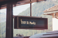St. Moritz (aligranu) Tags: stmoritz switzerland train trainstation travel travelphotography photography sonyalpha350