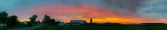 Rise 'n Shine! (tquist24) Tags: indiana nikon nikond5300 barn clouds farm farmhouse geotagged morning panorama panoramic pasture road rural silo sky sunrise tree trees