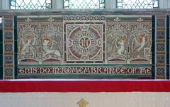 Victorian Tile Reredos, St Denys, York (Aidan McRae Thomson) Tags: york church stdenys yorkshire victorian tiles reredos