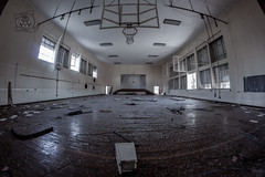 School gym (Ricardo Amoreira (Outrolho)) Tags: urban exploration abandoned ruins house dark light shadow alone portugal hope darkness decaying ashes decay destiny strange photography spooky wallpaper creepy explorer conceptual canon urbex outrolho ricardo amoreira basketball school gyn flickr