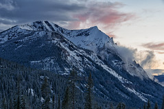 Snow Capped Sunset (dbushue) Tags: trees sunset snow mountains nature clouds landscape evening spring nikon montana yellowstonenationalpark rockymountains elevation 2012 coth cookecity supershot 7608 lulupass absolutelystunningscapes damniwishidtakenthat sunrays5 dailynaturetnc13