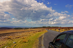 (neilbyrne) Tags: road ireland sky mountains car clouds canon drive countryside cyclist scenic irishcountryside