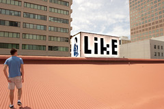 like1 (badjonni) Tags: streetart rooftop topham peterdrew