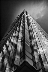 The High Crown (Dennis Burger) Tags: urban bw building amsterdam architecture blackwhite thenetherlands eerie northholland amsterdamzuid polarizationfilter claudedebussylaan bwnd106
