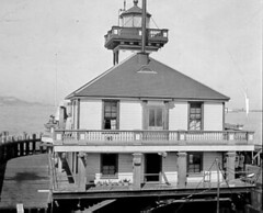 Historic Photo Of Oakland Harbor Lighthouse, California (Karl Agre, M.D.) Tags: lighthousetrek