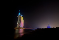 Burj Al Arab Hotel by Night (Gareth Wray - 12 Million Views, Thank You) Tags: world city travel vacation holiday tourism night lens stars landscape photography lights star hotel persian al amazing nikon europe neon dubai cityscape photographer gulf angle united wide scenic 7 tourist east clear emirates arab abroad fox saudi arabia record hd arabian middle nikkor peninsula luxery gareth hdr stay sights burj tyrone wray strabane 1024mm d5200 hdfox