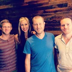 Impromptu meeting of lake Norma based worshiping creatives at Starbucks Birkdale. :) @thesswanjo @jasonclarkis @berzerkowitz