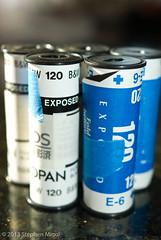 Off to the lab (S Migol) Tags: pentax 120film e200 exposed acros rollfilm smigol pentaxk10d stephenmigol copyright2013 calstar2013