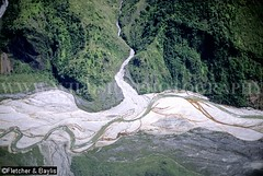 12119 Aerial view of a braided river, alluvial fans and landslides in the mountainous topography of West Papua (Irian Jaya), Indonesian New Guinea (K Fletcher & D Baylis) Tags: mountains river indonesia highlands asia aerialview aerial erosion geology newguinea geomorphology earthscience westpapua braidedriver irianjaya wildsidephotography fletcherbaylis