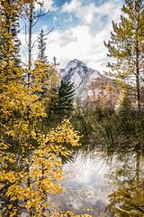 Autumn (cec403) Tags: autumn canada mountains reflection fall water rockies pond alberta banffnationalpark cavebasin canont4i
