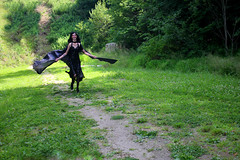 IMG_1614e (ScarletPeaches) Tags: bethw goth fairy isiswings outdoor black pixie