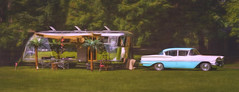 Afternoon on the Bar (Steve Walser) Tags: trailer trailers chevy spartan cars afternoon camping rv summer