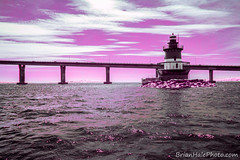 IR Lighthouse 2 (Brian M Hale) Tags: ocean ri pink light red sea lighthouse house color colour ir island sailing brian newengland atlantic boating infrared rhode infra hale false brianhalephoto