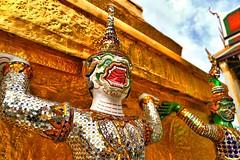 Monkeys and Demons (thechrisdavis) Tags: canon eos 5d 5dmk3 thailand honeymoon monkeysanddemons thaigrandpalace bangkok ramayana hdr