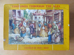 Box lid, Costumes Through the Ages (pefkosmad) Tags: jigsaw puzzle hobby leisure pastime vintage complete costumesthroughtheages georgeiii17601820 goodwingoldencasket 400pieces