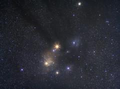 Mars, Rho ophiuchi cloud complex & Saturn (vincentyeung3) Tags: star deepsky rhoophiuchicloudcomplex mars longexposure astrophotography