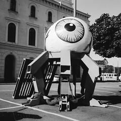 Robot arts collective (rotabaga) Tags: sverige sweden svartvitt göteborg gothenburg lomo lomography lubitel166 tmax100 diy mediumformat mellanformat 120 6x6 blackandwhite bw bwfp