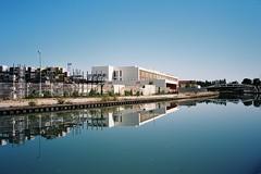2016 Canal St Martin (carlao126) Tags: olympus mjuii stylus epic 35mm film photography ekatr 100 kodak analog colour urbanism urban landscape blue