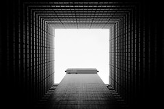 Ping Shek Estate in black and white (jbarry5) Tags: pingshekestate hongkong china hongkongapartments hongkonghousing hongkongabstract abstract geometry blackandwhite monochrome kowloon hongkongestates