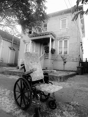 The Haunting at 2416 (Bart D. Frescura) Tags: bw bartdfrescura haunted strange street found theisland creepycalifornia eastbay