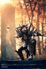 Tremble in Fear (Snowgrimm) Tags: wow cosplay costume forest autumn dark roar fear fantasy skyrim worldofwarcraft