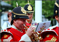 Southport's Armed Forces Day UK (* RICHARD M (Over 5 million views)) Tags: street candid southport armedforcesday military bandsmen thedukeoflancastersregiment kingslancashireandborder bands uniforms pithhelmets trumpet trumpeter music armedforces britisharmy sergeant army armysergeant epaulettes servicemen remembrance lestweforget wewilltememberthem parades marchingbands sefton merseyside armyreservists britisharmyreservists helmets soldiers brassbands militaryband thedecisivemoment