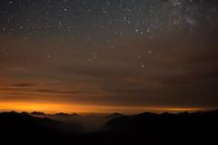 Smoke and Stars (Trevor Ducken) Tags: washington pacificnorthwest astrophotography night stars sky longexposure nikond600 olympicnationalpark outdoors nature august 2016 summer primelens afnikkor35mmf2d astronomy